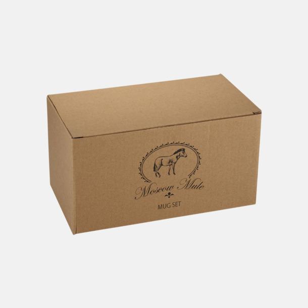 Presentförpackning Kopparmuggar med reklamtryck