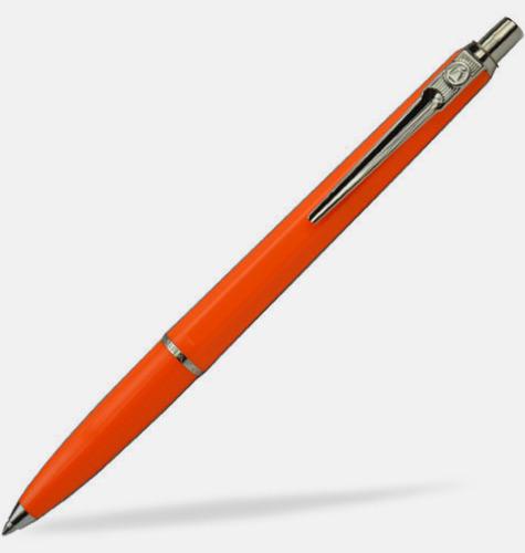 Orange (bläck) Ballografpennor med eget tryck