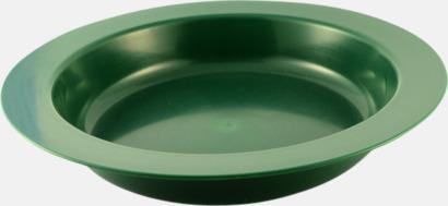 Djup (grön) Djupa och flata tallrikar för utflykten