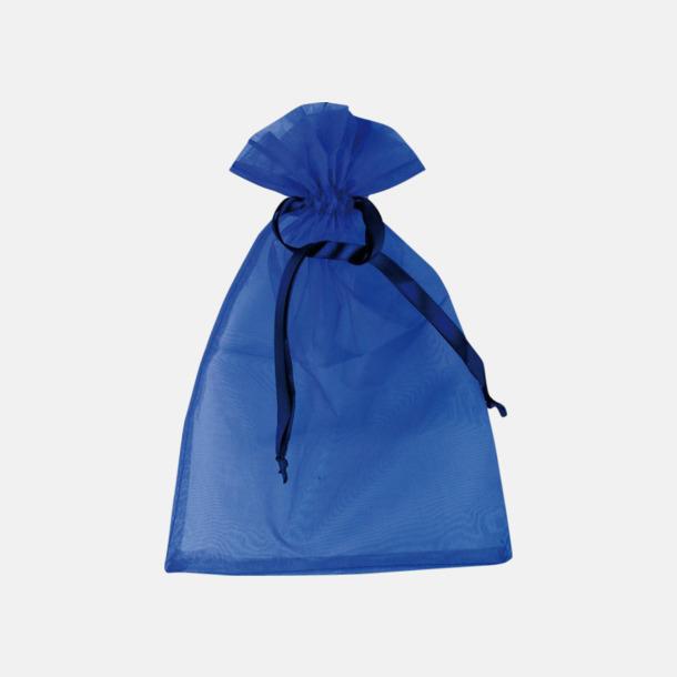 Blå (M) Färgglada presentpåsar i 4 storlekar med reklamtryck