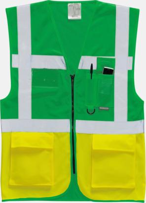 Paramedic Green/Hi-Vis Yellow Varselvästar med 2-färgade modeller - med reklamtryck
