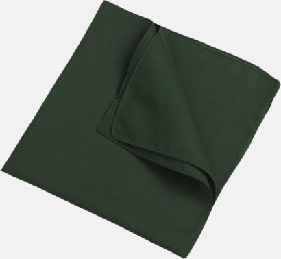 Mörkgrön (scarf) Bandanas i två varianter med reklambrodyr