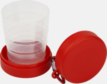 Vikbara plastmuggar med eget tryck