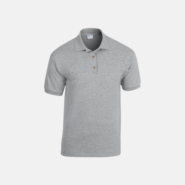 Sport Grey (heather) Billiga herrpikétröjor med tryck