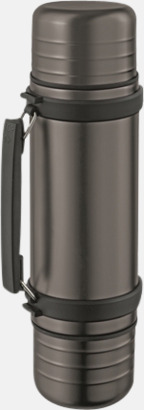 Titaniumgrå Duo Termos med egen gravyr