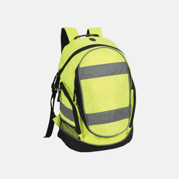 Hi-Vis Yellow Ryggsäckar i reflexmaterial med tryck