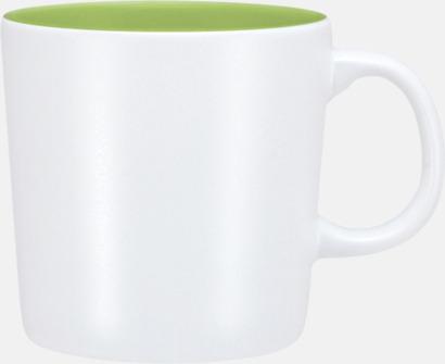 Vit/Grön (matt) Koppar med reklamtryck