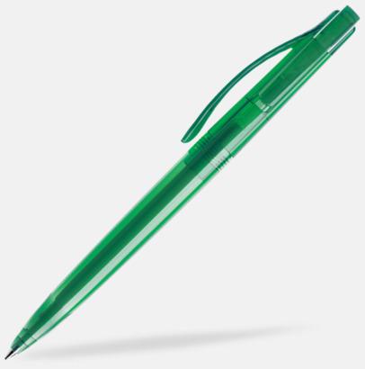 Mörkgrön (transparent) Prodir pennor i färger med tryck