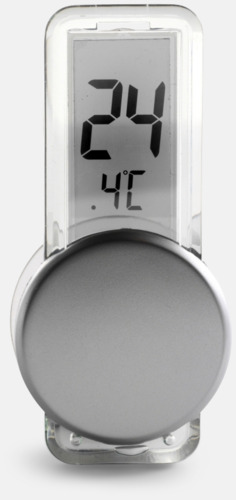 Silver Lättfäst termometer med tryck