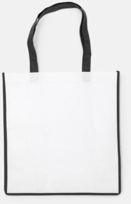 Svart / Vit Shoppingbagar i Non woven med tryck