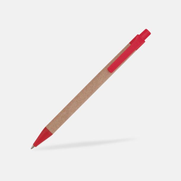 Röd Ekologiska pennor med tryck