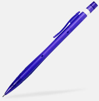 Blå / Transparent Stiftpennor med tryck