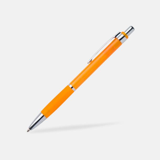 Orange Tunna bläckpennor med gummigrepp