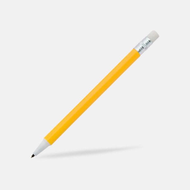 Gul Ovanliga stiftpennor med tryck