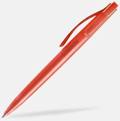 Röd (transparent) Prodir pennor i färger med tryck