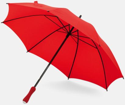 Röd Paraplyer med bärremmar - med tryck