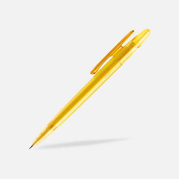 Gul (transparent) Prodir pennor i matta, solida färger - med tryck