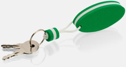 Grön/vit Små nyckelringar som flyter - med tryck