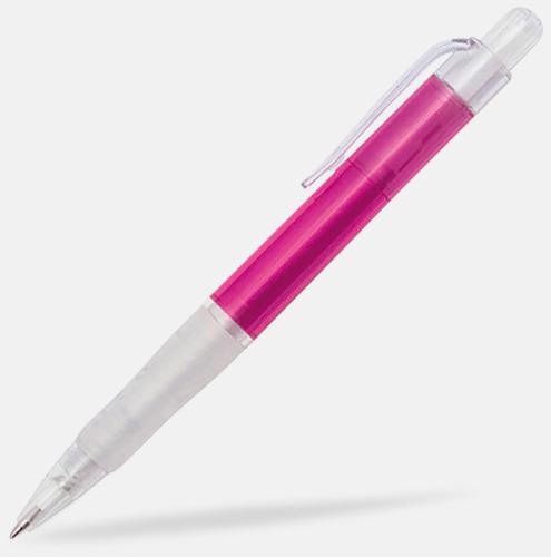 Rosa/Transparent Oliver - Billiga pennor med tryck