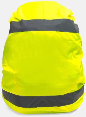 Gul Reflexöverdrag för ryggsäcken - med eget tryck