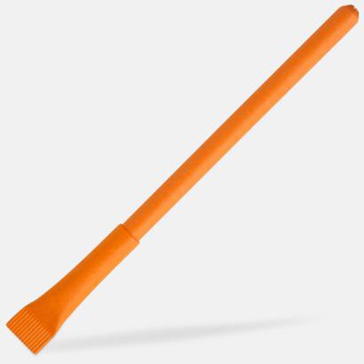 Orange Ekologisk papperspenna med tryck