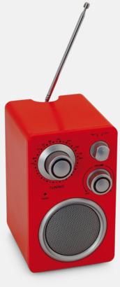 Röd Högtalare i retrodesign med reklamtryck