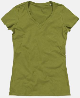 Earth Green (v-neck dam) Ekologiska t-shirts i flera modeller och många färger - med reklamtryck
