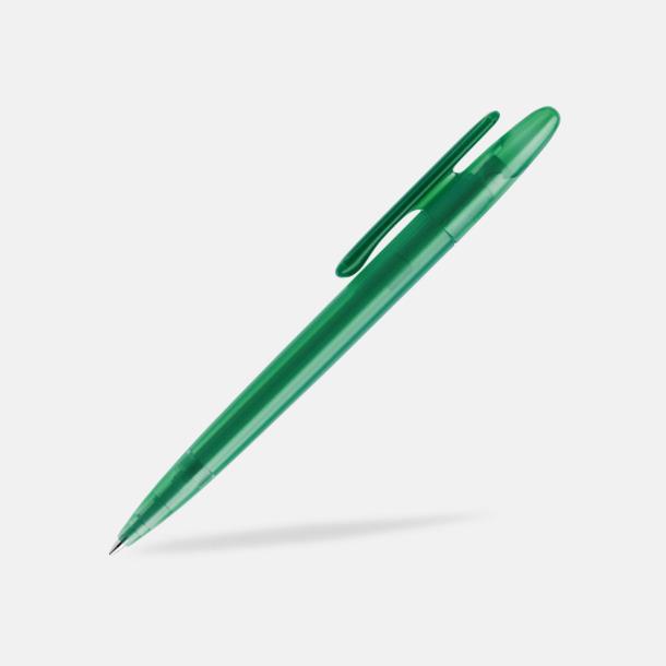 Mörkgrön (frostad) Prodir pennor i matta, solida färger - med tryck
