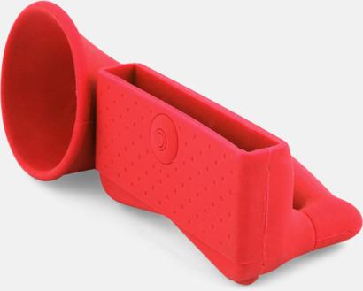 Röd Ljudförstärkare för iPhone med eget tryck