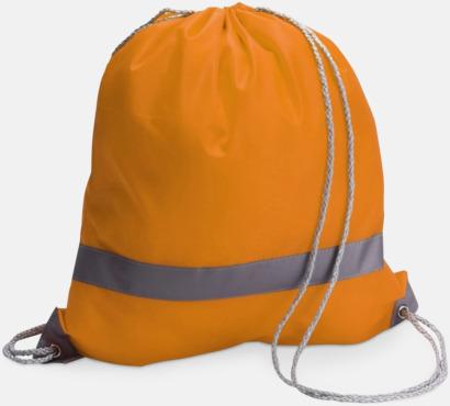 Orange Gymnastikpåse med reflexband - med reklamtryck