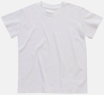 Vit (crew-neck barn) Ekologiska t-shirts i flera modeller och många färger - med reklamtryck