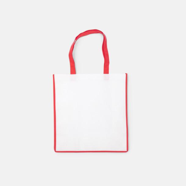 Röd / Vit Shoppingbagar i Non woven med tryck