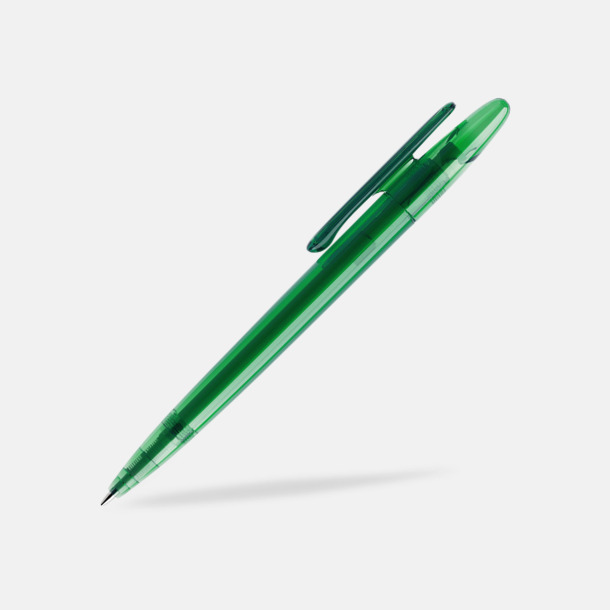 Mörkgrön (transparent) Prodir pennor i matta, solida färger - med tryck