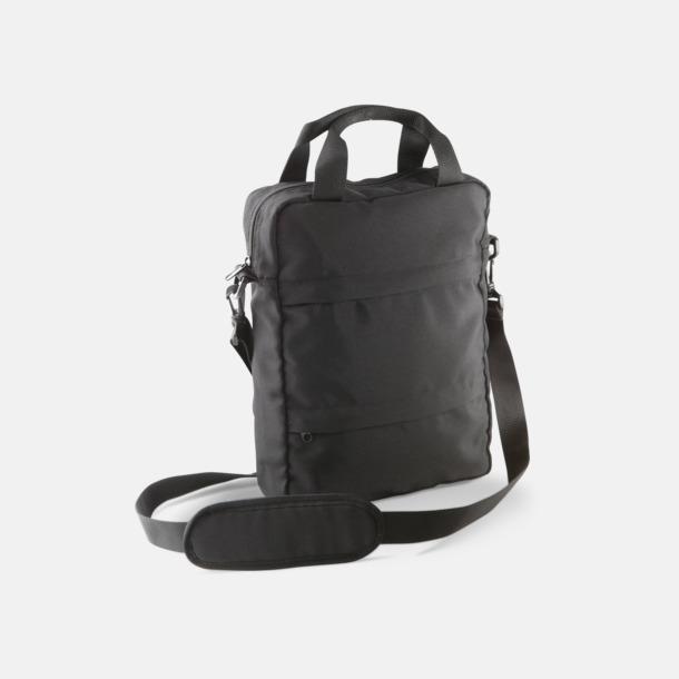Svart Messenger Bag för surfplattor - med tryck