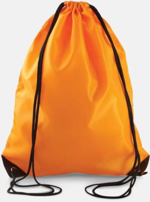 Orange Billiga gympapåsar med eget tryck