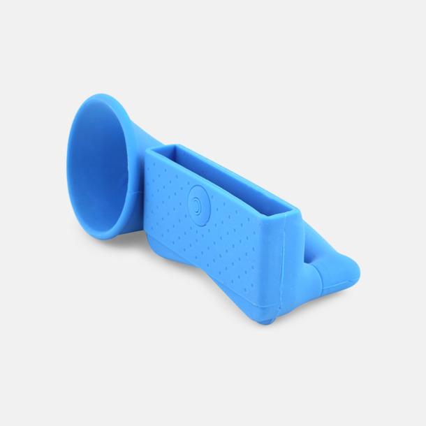 Ljusblå Ljudförstärkare för iPhone med eget tryck