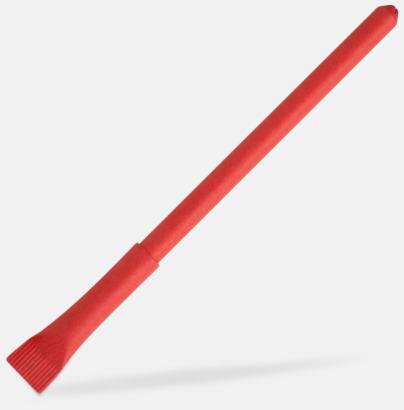 Röd Ekologisk papperspenna med tryck