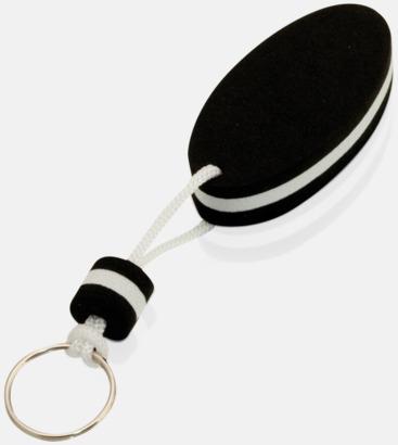 Svart/vit Små nyckelringar som flyter - med tryck