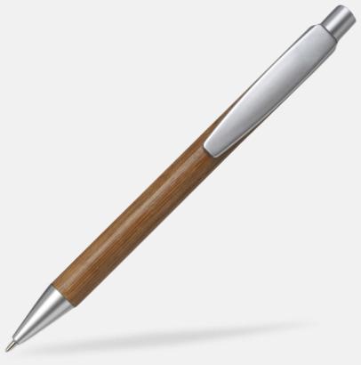 Silver / Ljust trä Bläckpennor i bambu med tryck