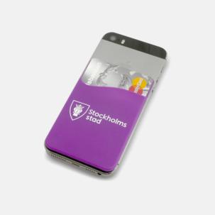 Mobilficka på telefonens baksida med reklamtryck