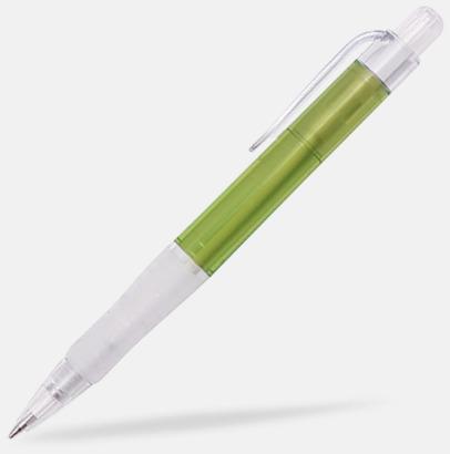 Ljusgrön/Transparent Oliver - Billiga pennor med tryck
