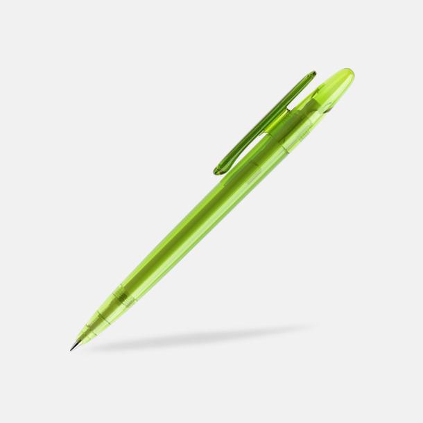 Limegrön (transparent) Prodir pennor i matta, solida färger - med tryck