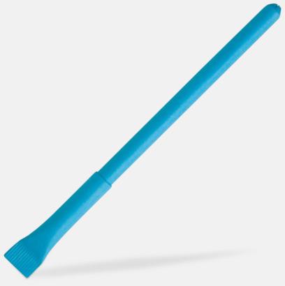Blå Ekologisk papperspenna med tryck