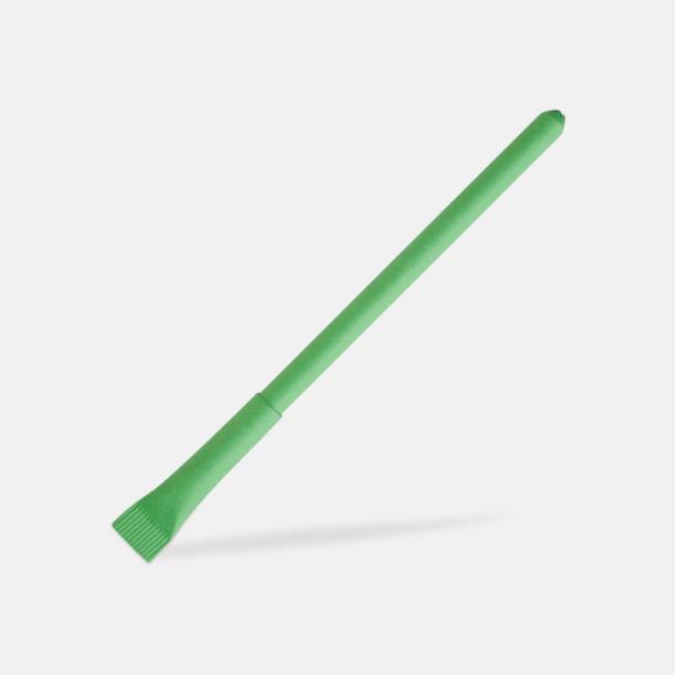 Grön Ekologisk papperspenna med tryck