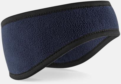 Marinblå Pannband i suprafleece med reklambrodyr