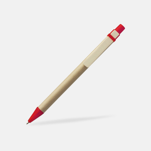 Röd Miljövänliga pennor med tryck
