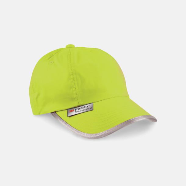 Fluorescerande Gul Kepsar med reflexband och fluorescerande färger