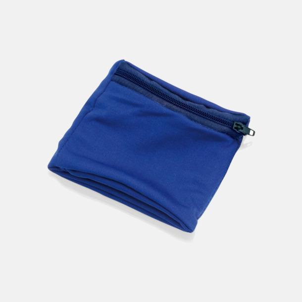 Blå Plånbok att bära runt handleden med eget tryck
