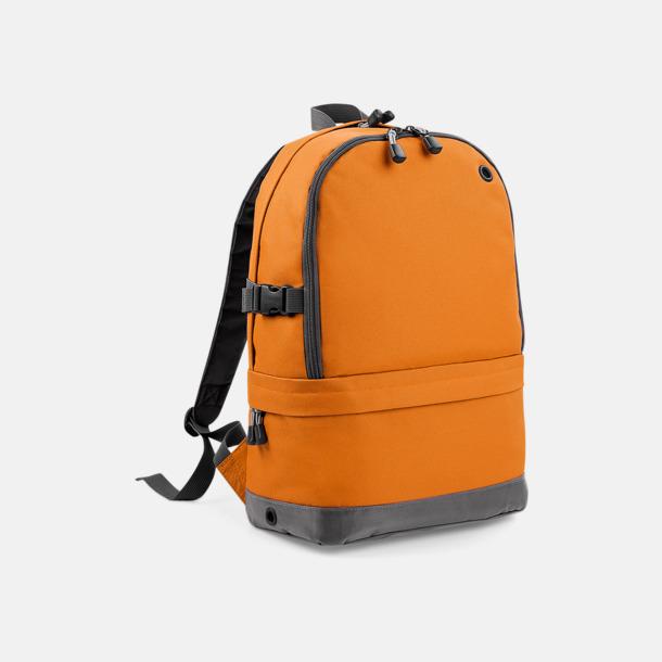 Orange Ryggsäckar med dubbelfack - med reklambrodyr