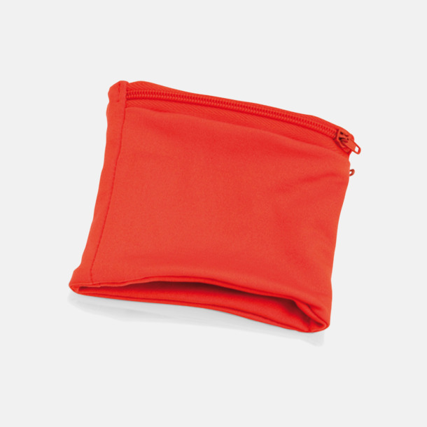 Röd Plånbok att bära runt handleden med eget tryck